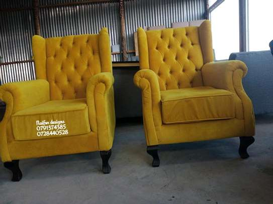 Modern yellow single seater sofas for sale in Nairobi Kenya/one seater sofas/latest chesterfield sofa designs in kenya image 2