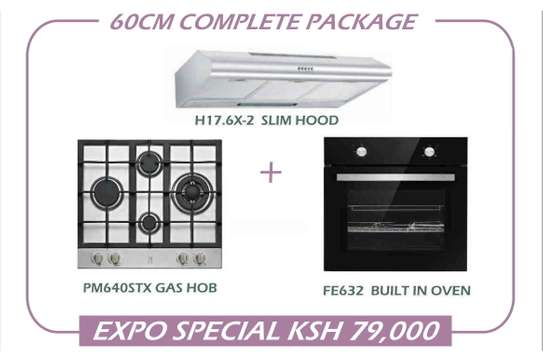 Newmatic 60cm Appliance Package - Hob, Hood & Oven