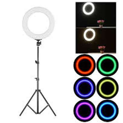 RGB Selfie Ring Light with Stand and Phone Holder, image 2