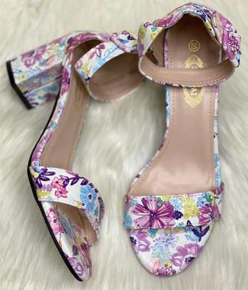 Floral Chunky heels image 11