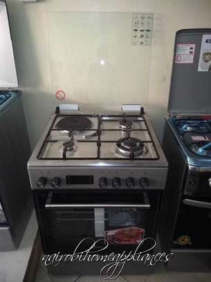 Simfer 6312NEID Cooker 3 Gas + 1 Electric Cooker 60CM - Silver Inox image 1