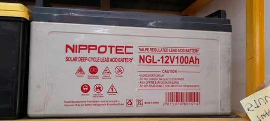 Nippotec Solar Deep Cycle Lead ACID 100ah Battery image 1