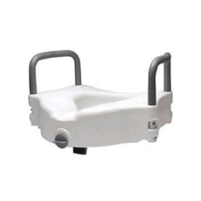 Raised Toilet Seat with Extra Wide Opening - Toilet raiser image 2