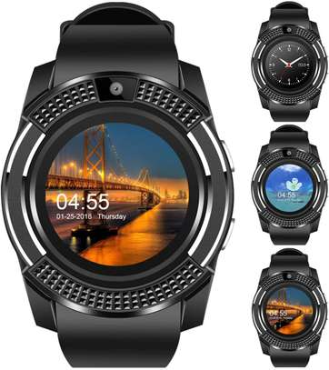 Padcod V8 Sports Smartwatch Bluetooth with Camera Message Push Touch Screen Pedometer Sedentary Reminder Sleep Monitor Instant Notification Anti-Lost Smartwatch for Android Phone image 1