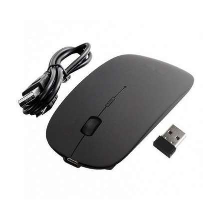 Rechargeable Wireless Mouse - BLACK image 1