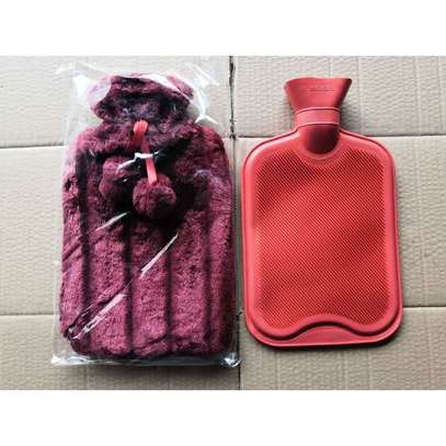 Fashion Hot Water Bottle With Fur Cover And Pom Poms image 1