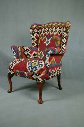 Kitenge Armchairs/Wing back chairs image 7