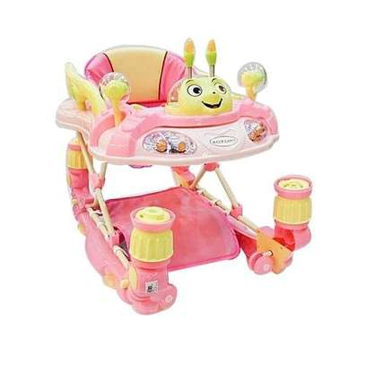3 in 1 Baby Walker/Rocker - Pink. image 1