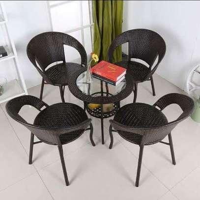4 piece rattan balcony chairs image 4
