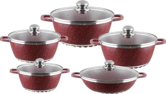 Unique granite cooking pot image 1