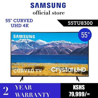 55 samsung Crystal UHD 4K Smart TV Curved image 1