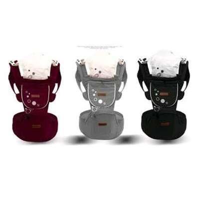 Baby carrier with a hip seat image 1