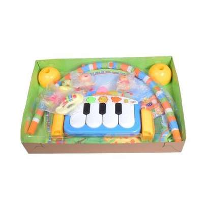 Generic Piano Play Gym Playmat - Blue image 1