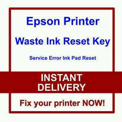 Waste ink tank error message on all EPSON and CANON  printers