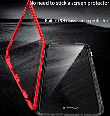 Magnetic Double-sided 360 Full Protection Glass Case for Samsung S21 S21 Plus S21 Ultra image 3