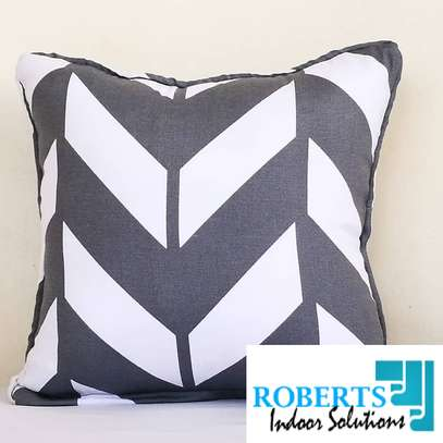 white and grey throw pillow image 1