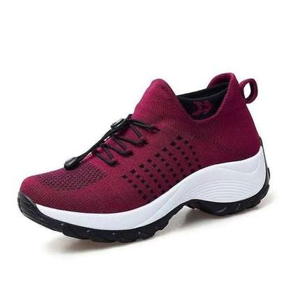 Classy Maroon Sneakers Shoes