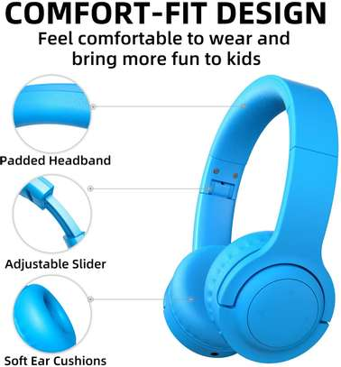 Picun E3 Bluetooth Headphone for Kids (Blue) image 8