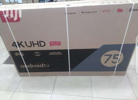 "75"" tcl 4k uhd Android Qled tv image 1"
