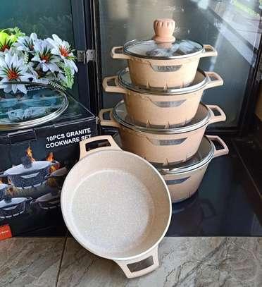 *10pcs granite cookware set* 5 cooking pots with lids * image 2