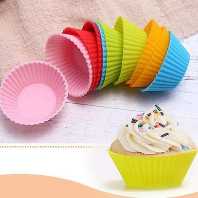 12pcs re-usable silicone cupcake molds image 4