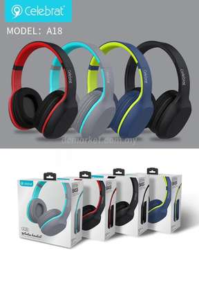 Celebrat A18 Wireless Bluetooth Headphones with extra bass image 2