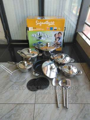 18pc Stainless Steel* Cookwares Set image 1