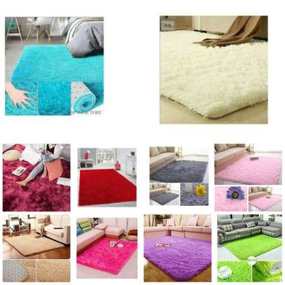Fluffy high quality carpet-size 5*8 image 1