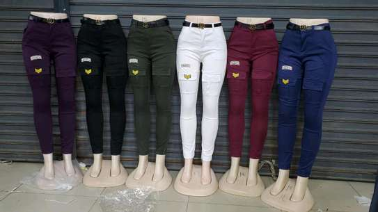 Trousers black, white, green, maroon, gray image 4