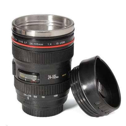 Camera Lens Cup 24-105 Coffee Tea Travel Mug Stainless Steel Thermos New image 1
