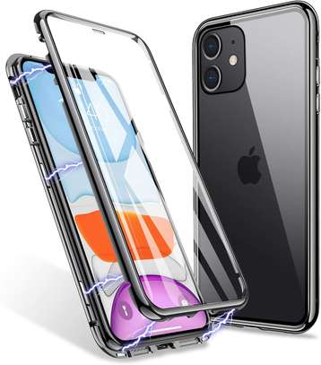 Magnetic Double-sided 360 Full Protection Glass Case for iPhone 11/11 Pro 11 Pro Max image 4