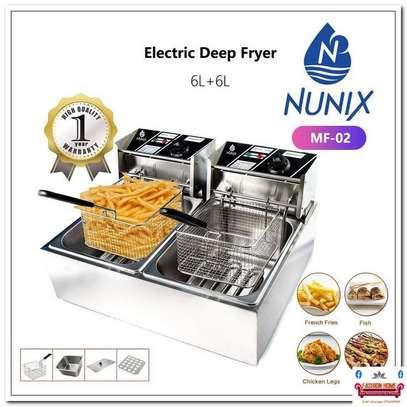 double electric deep fryer image 2