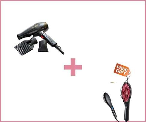Hair Straightener And Blow-dry + free hair straightener image 1