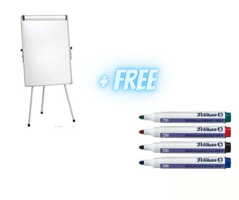 FLIP CHART STAND 3*2FT +FREE MARKERS image 1