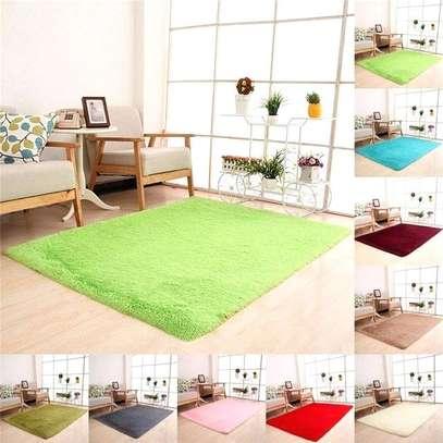 green fluffy carpet image 2