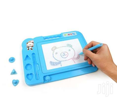 Kids Pink, Blue Writing Magnetic Drawing Board image 1