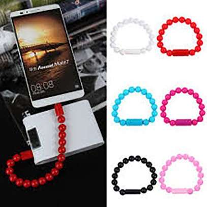 USB Data Cable Bracelet Charger For Iphone - Varying colour