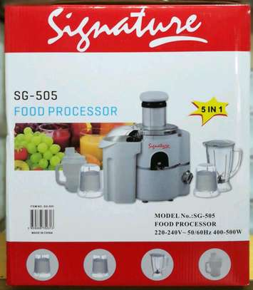 5 in 1 signature food processor