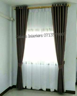 BROWN AND CREAM THEMED CURTAINS image 3