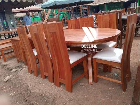 8 Seater Mahogany Dining Table Sets. image 1