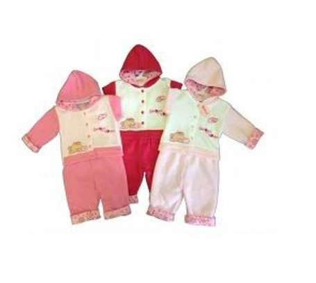 Baby Girl 'Sweet Heart' Jacket and Trouser Set image 1