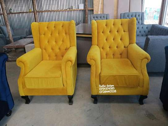Modern yellow single seater sofas for sale in Nairobi Kenya/one seater sofas/latest chesterfield sofa designs in kenya image 1