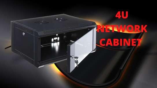 4U Network Cabinet With Glass Door image 1