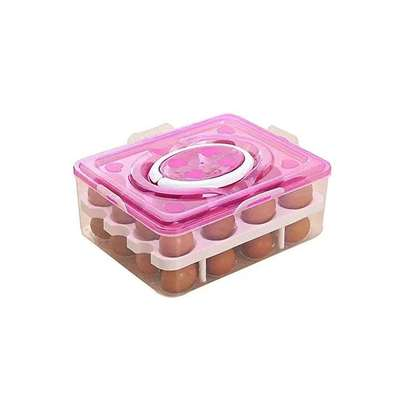Double Layer 32 Egg Storage Box/ 32 Grid Egg Holder image 1
