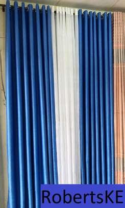 polycotton blue curtain image 1