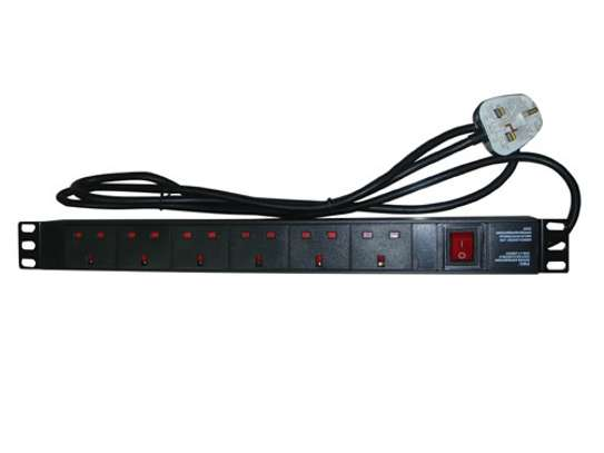 NETWORKING EQUIPMENT: POWER DISTRIBUTION UNIT 6 WAYS EXTENSION  CABLES FOR SERVERS. New. image 1