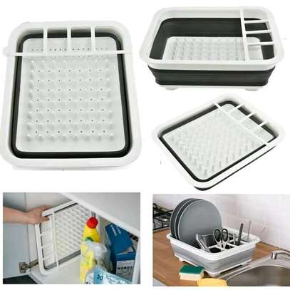 Collapsible dish drainer draining board image 1