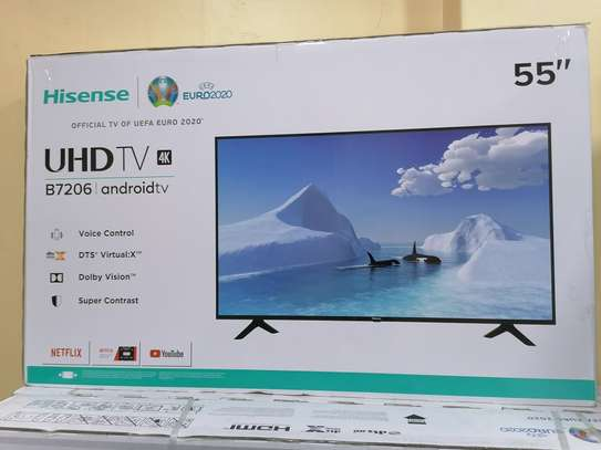 Hisense 55 inch smart android 4k framed tv image 2