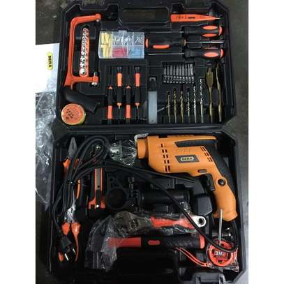 116PCS Electrical Tools and Hardware Set With Impact Drill image 1