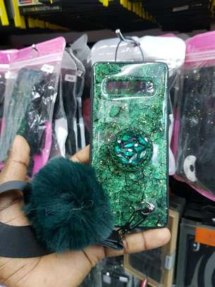 Diamond phone case with Glittering green for S10 Plus